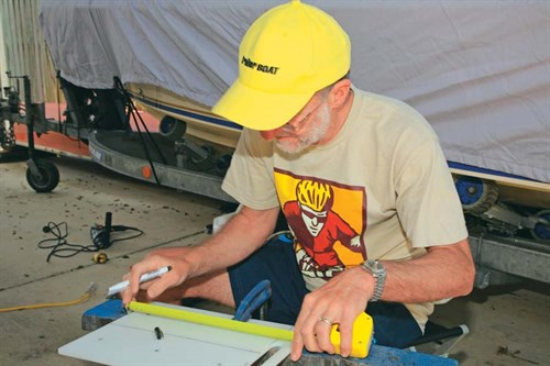 Measuring materials for DIY rod storage