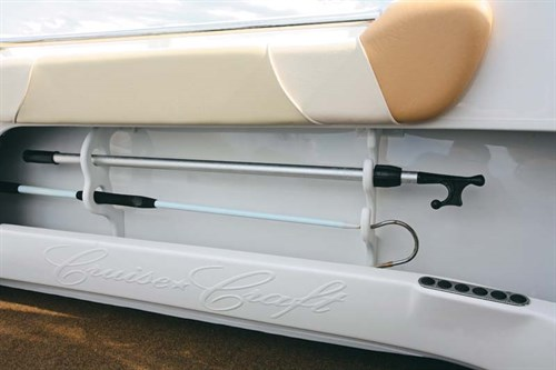 DIY rod storage rack for a boat