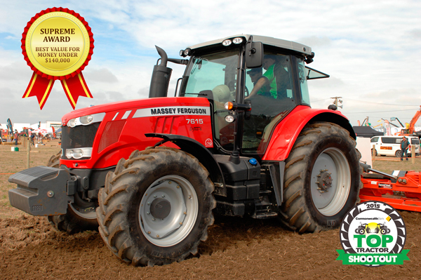 Top Tractor Shootout 2015 winner-Massey Ferguson 7615 Dyna 6