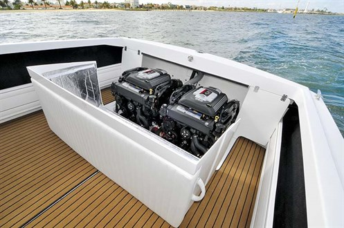 Twin 4.5 litre Mercruiser engines
