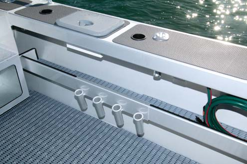Rod holders on Surtees 650 Game Fisher