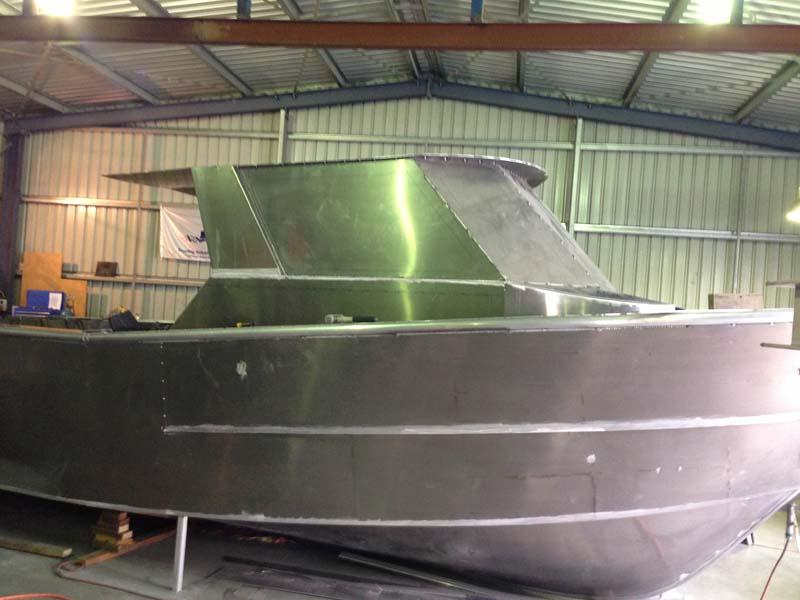 Aluminium cabin fabricated at Pelagic boats