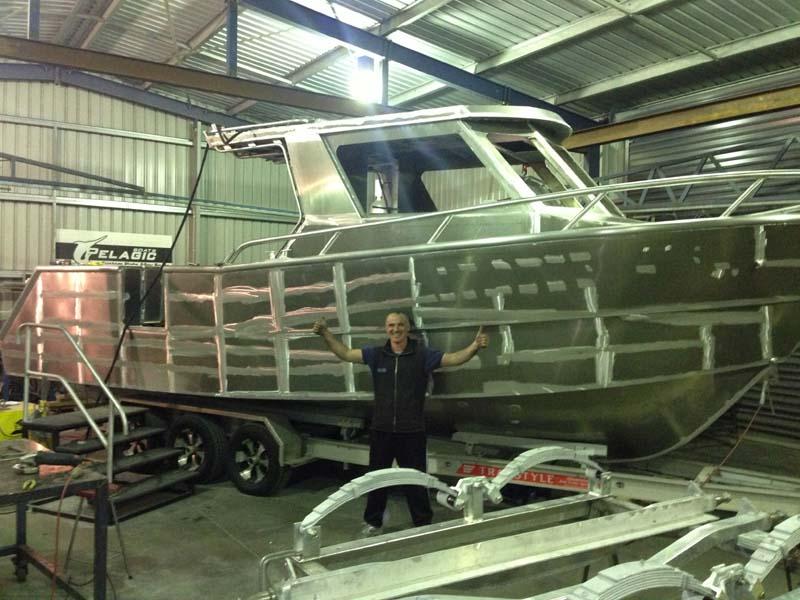 Matt Cini with 8.5m Pelagic fishing boat