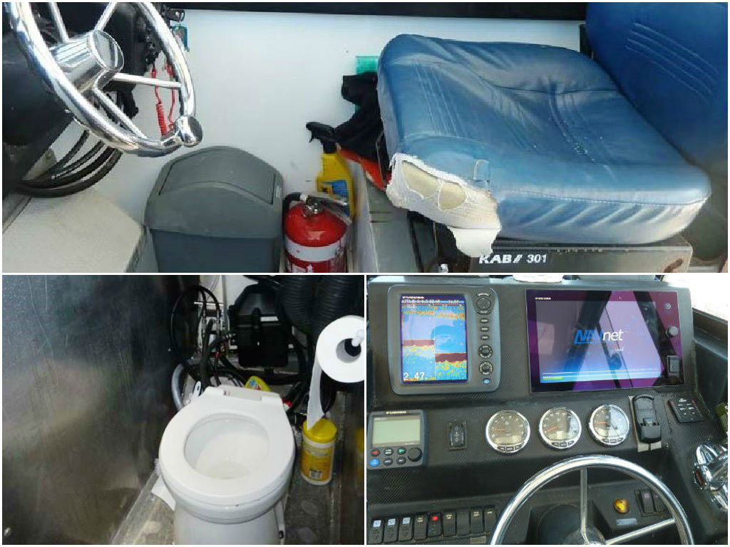 Pelagic fishing boat cabin