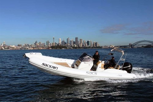 SACS Sport 780 on the water