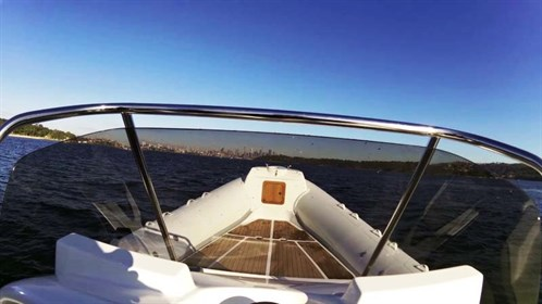 SACS Sport 780 view from helm