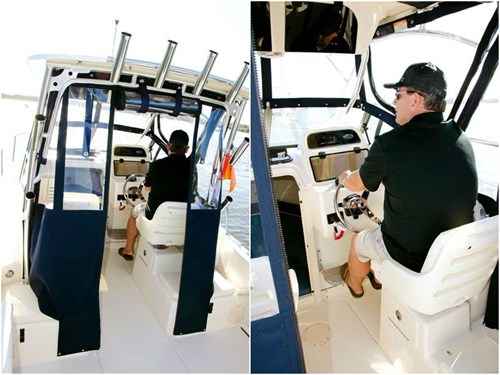 Cockpit on Grady White-Seafarer 226