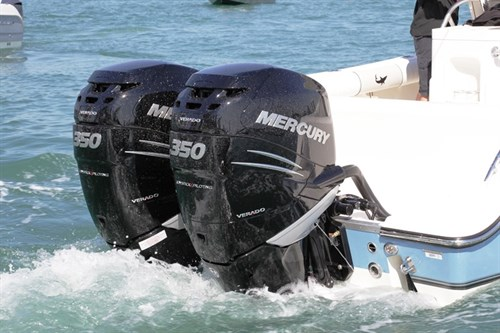 Twin Mercury 350 hp Verado outboards