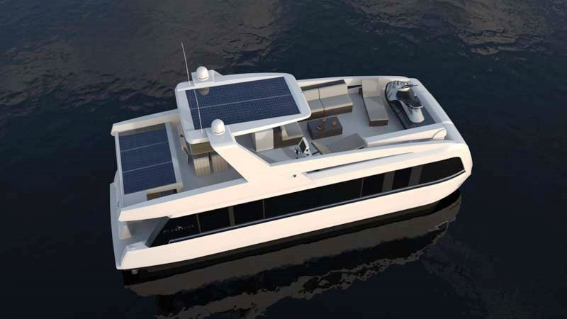 Overblue 44 offshore houseboat