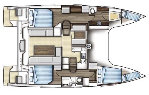 Nautitech 40 Open sailing cat deck plans