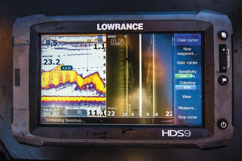 Check out the Lowrance electronics