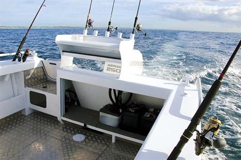Transom on Stacer 739 Ocean Ranger
