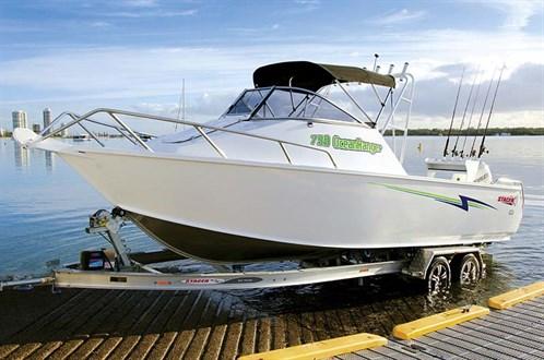Stacer 739 Ocean Ranger on trailer