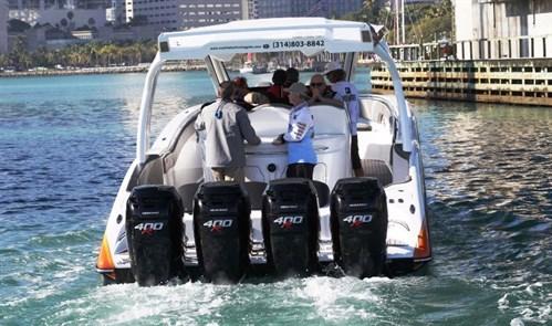 Quad Mercury 400 Verado outboards