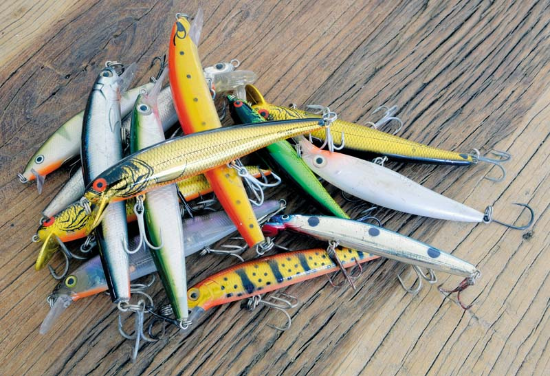 Collection of hard bodied lures