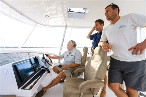 Helm on Fountaine Pajot Cumberland 47LR
