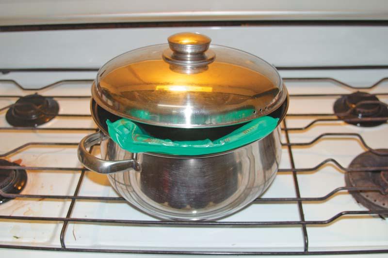 Boiling a Shin Bio Heat Pack