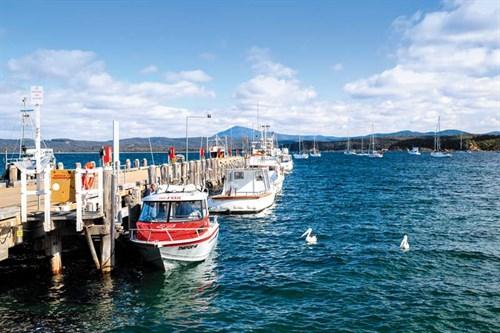 Boat jetty in Eden NSW