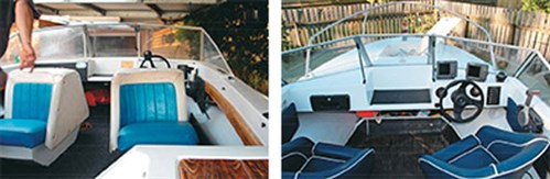 Restored seating on Caribbean project boat