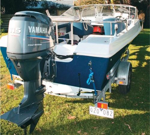 Yamaha outboard motor on Caribbean Invader