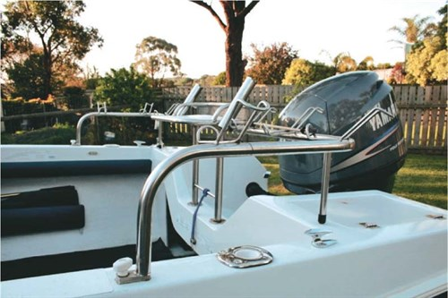 Stainless steel on Caribbean project boat