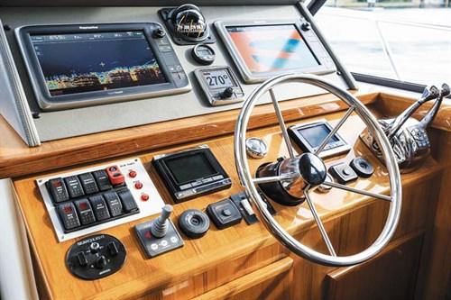 Dash controls of Caribbean 420 Express