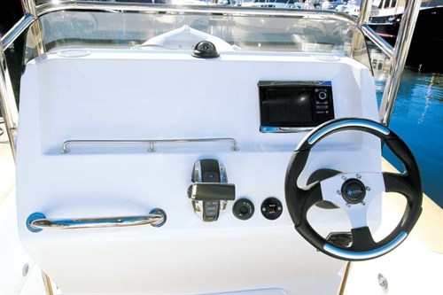 Console on Ballistic 7.8 boat