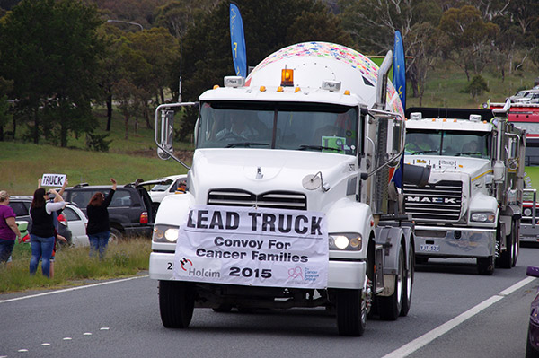 Canberra -Convoy ,-Cancer -Families ,-2015,-event ,-Trade Trucks 18