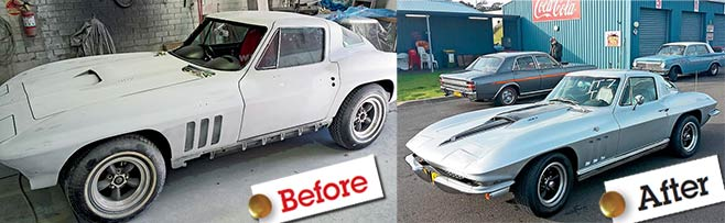 Corvette -c 2-before -after