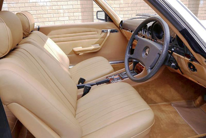 Mercedes -benz -450slc -interior -front -sm