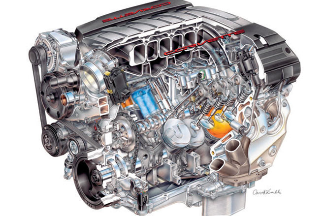 Corvette -c 7-engine -2