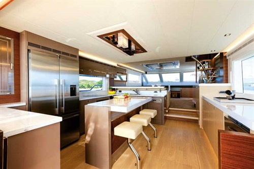 Horizon V72 galley interior