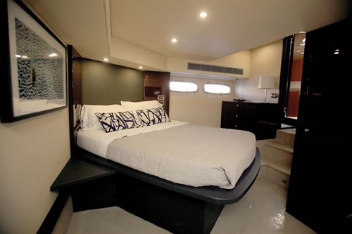 Master bedroom in luxury boat