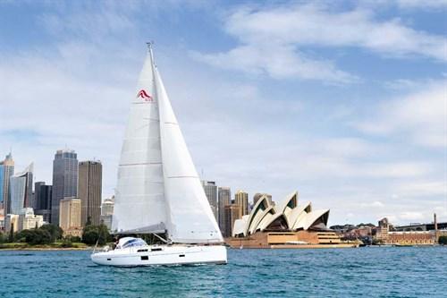 Hanse 455 sailing in Sydney