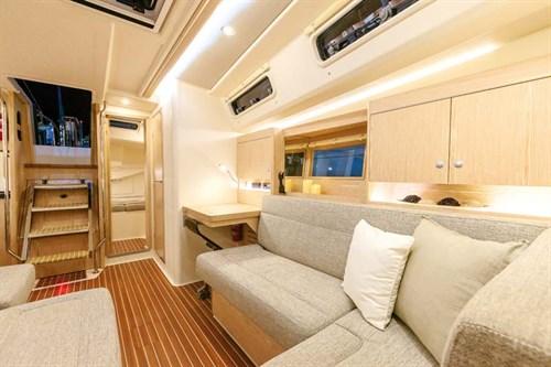 Interior of Hanse yachts 455 hull