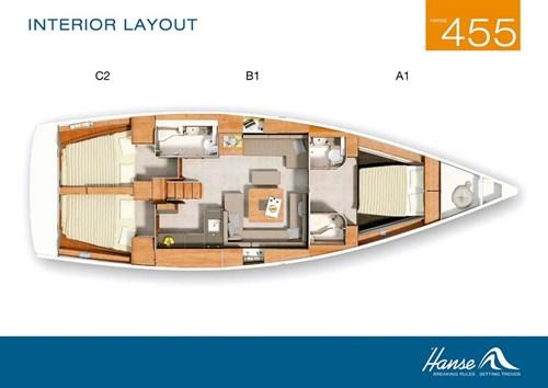 Interior layout plan of Hanse 455