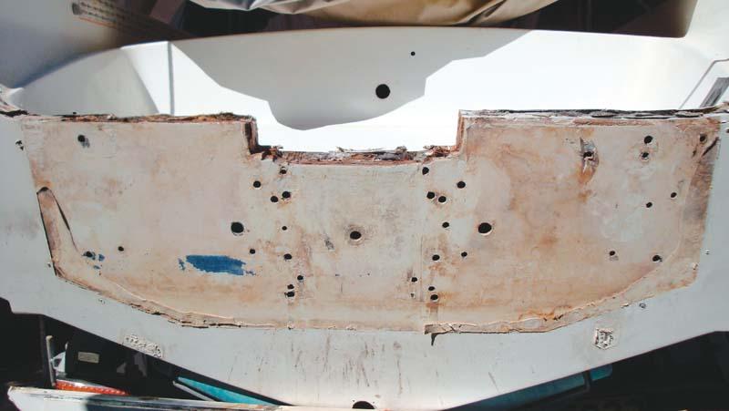 Rotten boat transom