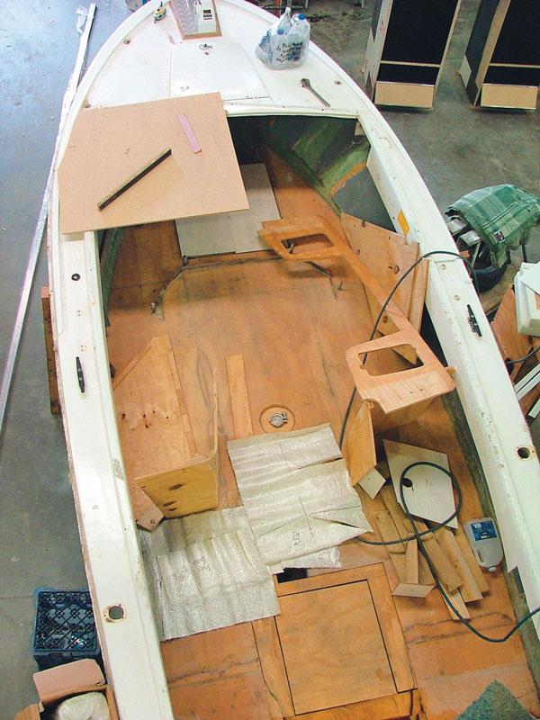 Floor of Bertram project boat