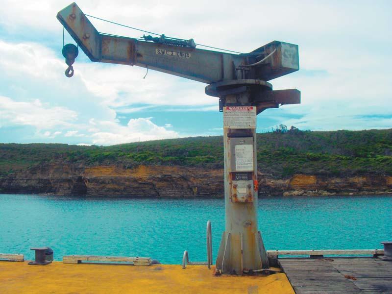 Pier launching crane