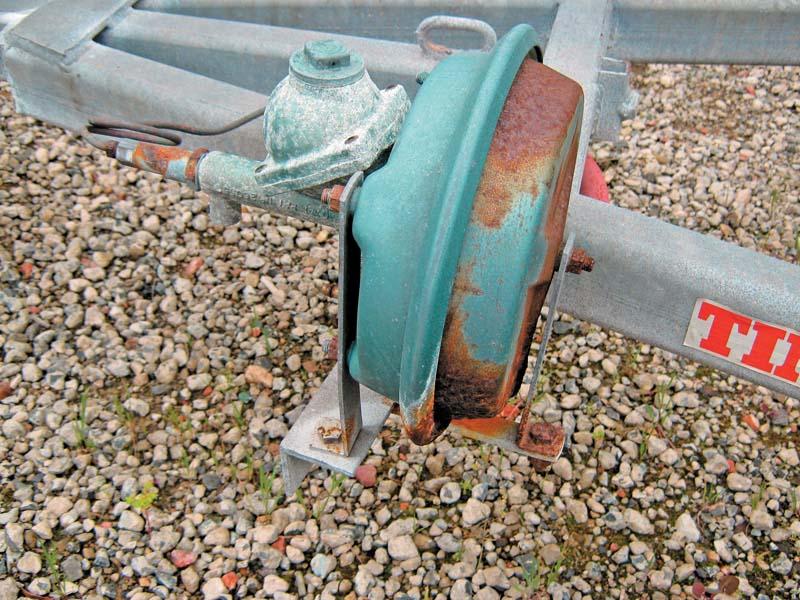 Corroded brake master cylinder