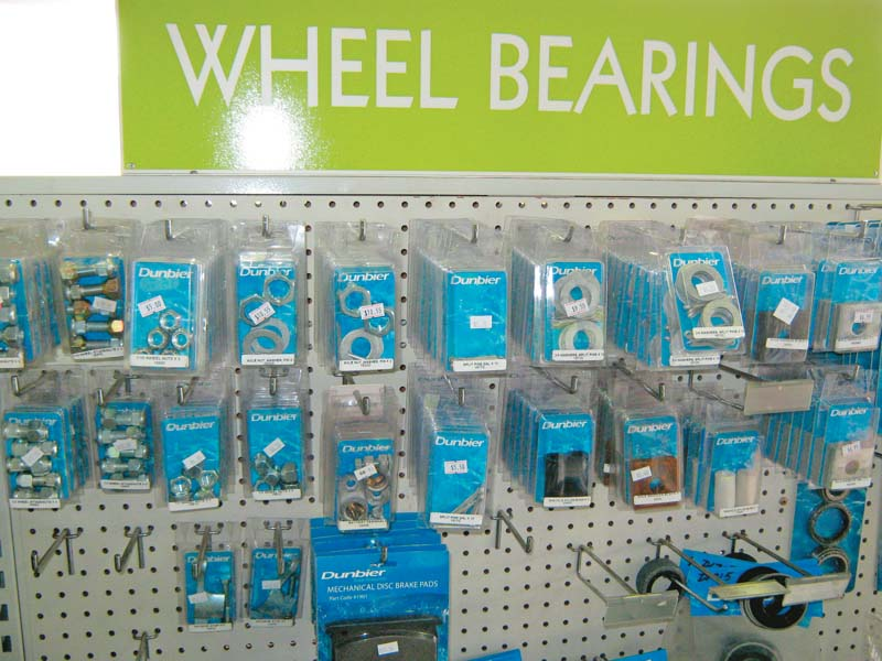 Rack of new wheel bearings for sale