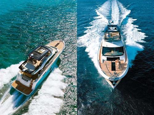 Monte Carlo 6 motor yacht at sea