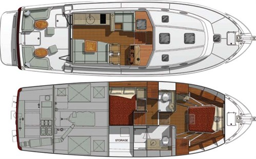Back Cove 41 deck layout