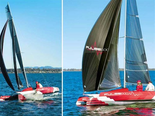 Corsair Pulse 600 trimaran on the water