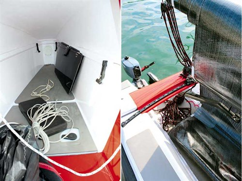 Interior cabin of Corsair Pulse 600 trimaran