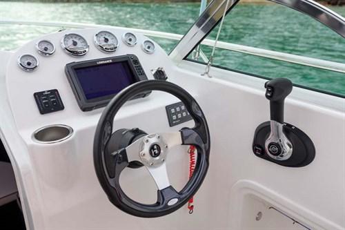 Lowrance electronics and Mercury Marine gauges