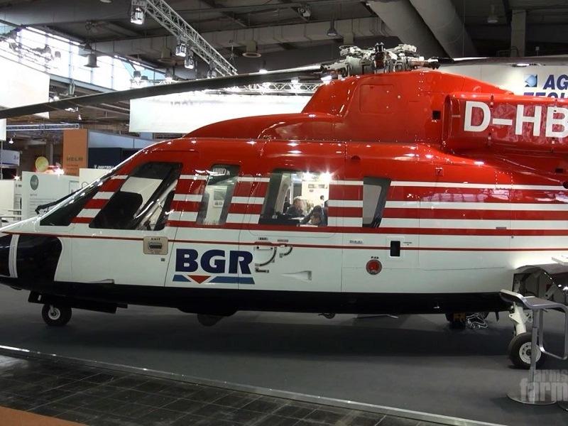 BGR Sikorsky S-76B Helicopter Agritechnica 2015