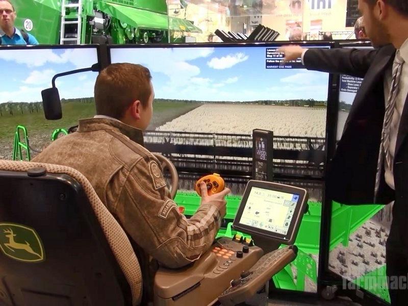 John Deere Agritechnica Go Harvest Combine Simulator