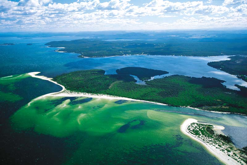 Port Stephens aerial view