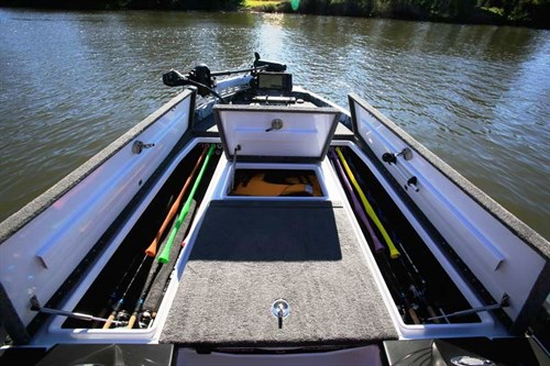 Storage on Phoenix 721 Pro XP bass boat